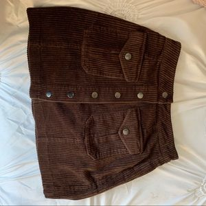 FOREVER 21 brown button up mini skirt